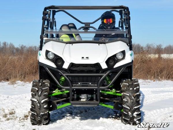 SUPER ATV FLIP WINDSHIELD SCRATCH RESISTANT KAWASAKI TERYX 800/TERYX 4 -16302