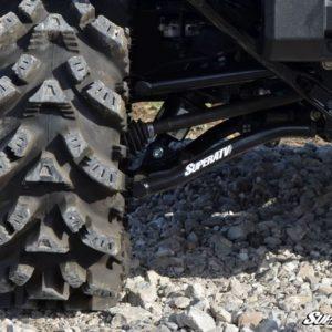 "SUPER ATV HIGH CLEARANCE 1.5"""" OFFSET REAR A-ARMS HONDA PIONEER 1000 - BLACK-0"