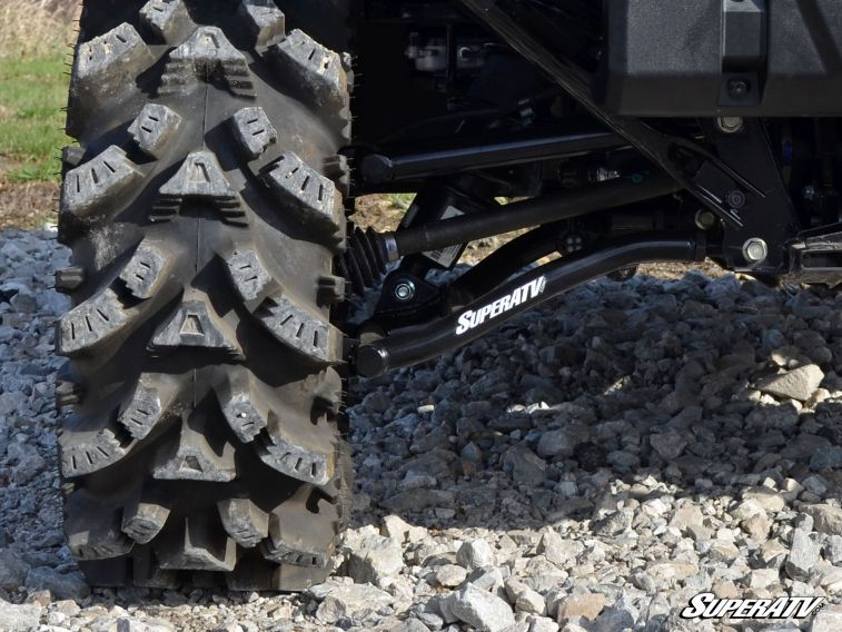 "SUPER ATV HIGH CLEARANCE 1.5"""" OFFSET REAR A-ARMS HONDA PIONEER 1000 - BLACK-0"
