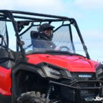 SUPER ATV HALF WINDSHIELD SCRATCH RESISTANT HONDA PIONEER 1000 - CLEAR-0
