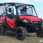 SUPER ATV HALF WINDSHIELD SCRATCH RESISTANT HONDA PIONEER 1000 - CLEAR-16299