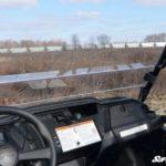 SUPER ATV HALF WINDSHIELD SCRATCH RESISTANT HONDA PIONEER 1000 - CLEAR-16298