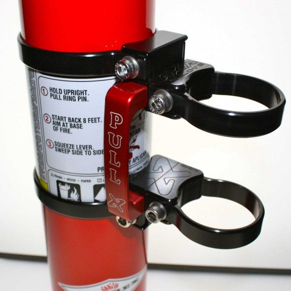 QUICK RELEASE FIRE EXTINGUISHER MOUNT WITH 2.5 LB RED AMEREX FIRE EXTINGUISHER - BLACK-15798