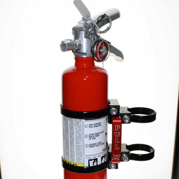 QUICK RELEASE FIRE EXTINGUISHER MOUNT WITH 2.5 LB RED AMEREX FIRE EXTINGUISHER - BLACK-15797