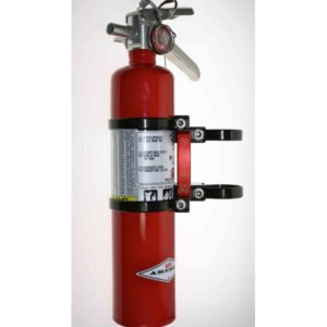 QUICK RELEASE FIRE EXTINGUISHER MOUNT WITH 2.5 LB RED AMEREX FIRE EXTINGUISHER - BLACK-0