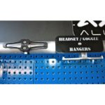 HEADSET/GOGGLE HANGER - PARALLEL TO BAR - BLACK-15780