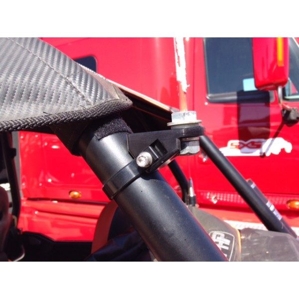 ANGLED BAR FLAG MOUNT POLARIS RZR XP 1000 - BLACK-15713