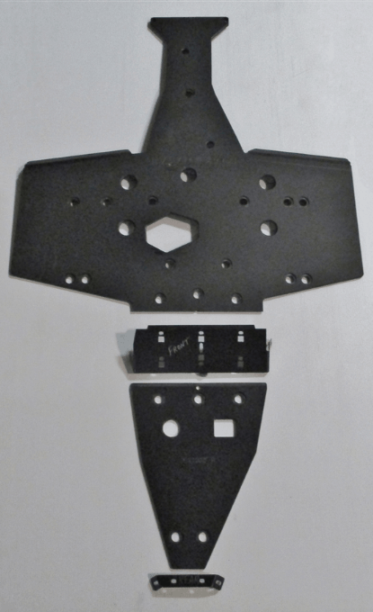 "TRAIL ARMOR SKID PLATE POLARIS SPORTSMAN 850/850 SP/XP 1000/SCRAMBLER 850/XP 1000 - 1/2"""" UHMW-0"