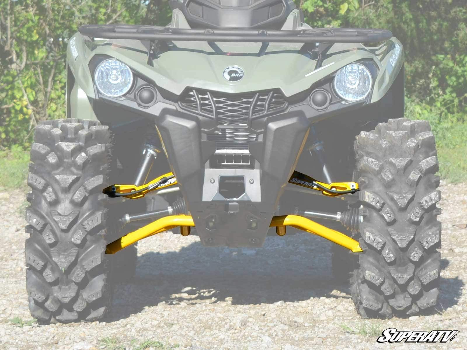 "SUPER ATV HIGH CLEARANCE 1 5"" FORWARD OFFSET A ARMS CAN AM OUTLANDER"
