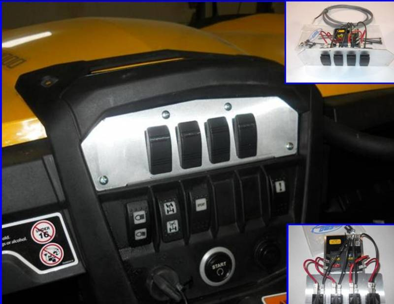 emp command centre with fuse block and switches can am maverick rh utvcanada com 2014 can am maverick fuse box diagram