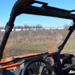 SUPER ATV FULL WINDSHIELD SCRATCH RESISTANT POLARIS RZR 900/XP 1000 - LIGHT TINT-16387