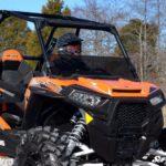 SUPER ATV HALF WINDSHIELD POLARIS RZR 900/XP 1000 - LIGHT TINT-16346