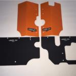 GRIZZZTEK FULL COVERAGE GUARD SET RADIATOR/BATTERY BOX/FUEL TANK POLARIS GENERAL 1000 - ORANGE-16558