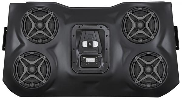 SSV WORKS BLUETOOTH STEREO SYSTEM 4 SPEAKER OVERHEAD POLARIS RZR XP 1000-0