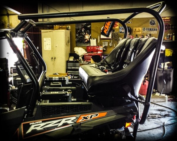 """REAR CAGE WITH 42"""""""" BENCH SEAT AND 2 HARNESSES POLARIS RZR XP 1000-16745"""