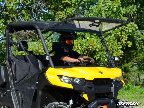 SUPER ATV FLIP WINDSHIELD SCRATCH RESISTANT CAN-AM DEFENDER -0