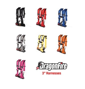 "DRAGONFIRE H-STYLE 4-POINT 3"""" HARNESS - BLACK-0"