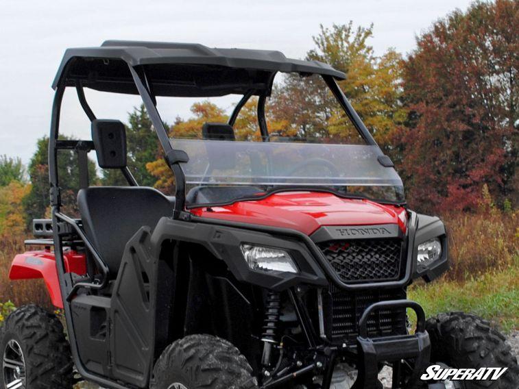 SUPER ATV HALF WINDSHIELD SCRATCH RESISTANT HONDA PIONEER 500 -0