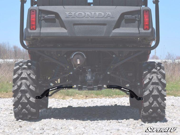 SUPER ATV HIGH CLEARANCE REAR A-ARMS HONDA PIONEER 700 - BLACK-0