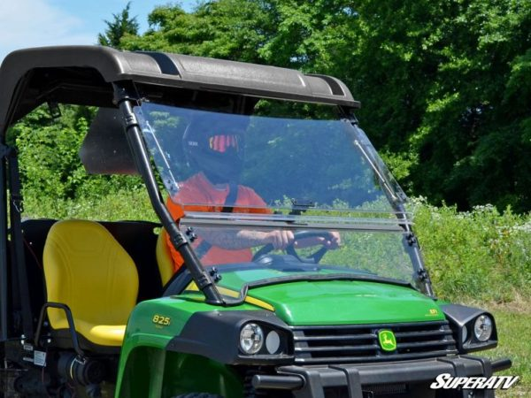 SUPER ATV FLIP WINDSHIELD SCRATCH RESISTANT JOHN DEERE GATOR -0