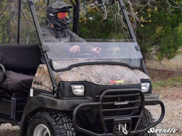 SUPER ATV HALF WINDSHIELD SCRATCH RESISTANT KAWASAKI MULE 3010 -0
