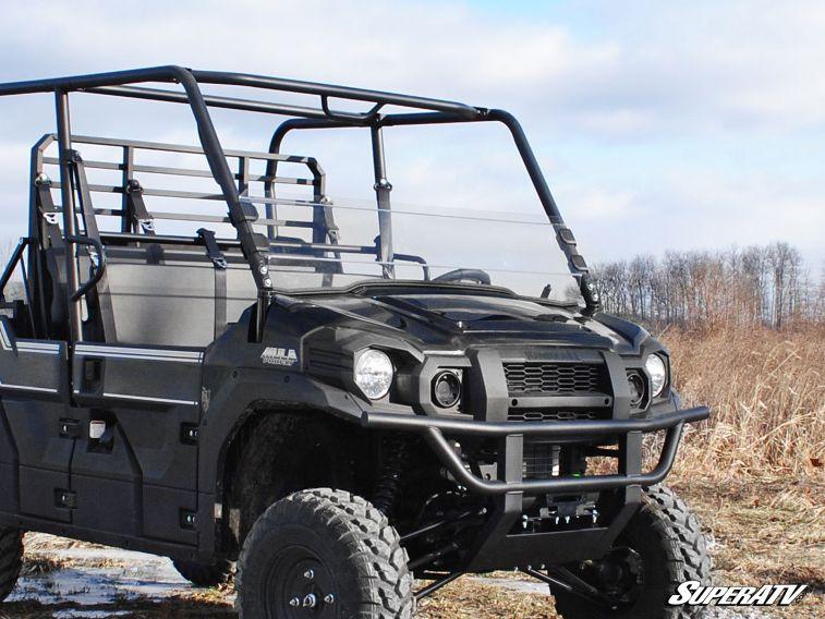 SUPER ATV HALF WINDSHIELD SCRATCH RESISTANT KAWASAKI MULE PRO FXT -0