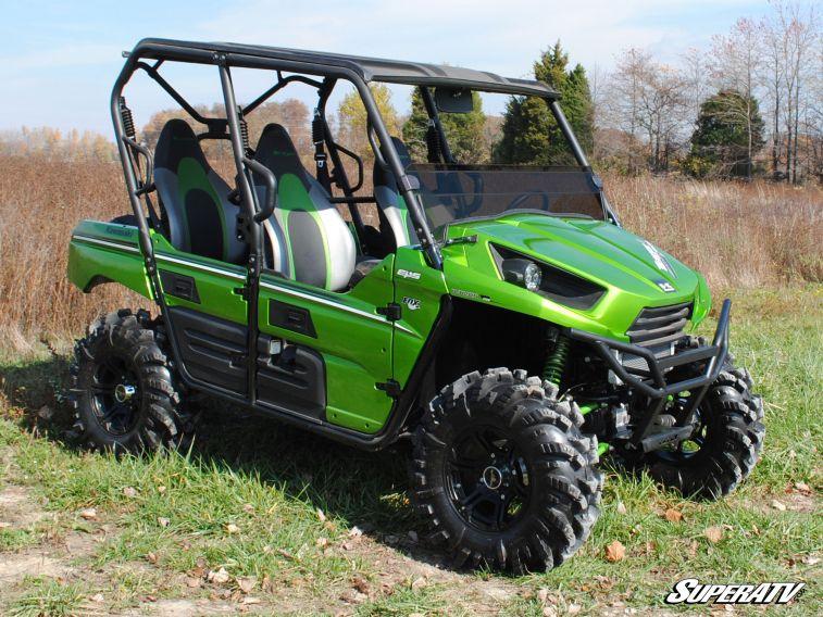 SUPER ATV HALF WINDSHIELD SCRATCH RESISTANT KAWASAKI TERYX 4 750/800 - DARK TINT-0