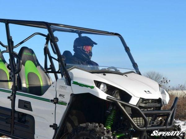 SUPER ATV FULL WINDSHIELD SCRATCH RESISTANT KAWASAKI TERYX 750/800 2014-2015-0