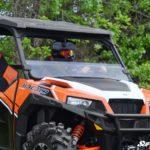 SUPER ATV HALF WINDSHIELD SCRATCH RESISTANT - POLARIS GENERAL -CLEAR -17166