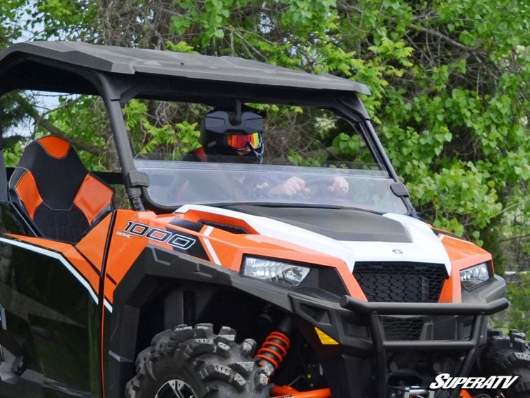 SUPER ATV HALF WINDSHIELD POLARIS GENERAL - LIGHT TINT-0