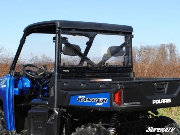 SUPER ATV REAR WINDSHIELD POLARIS RANGER 570/900 FULL SIZE - LIGHT TINT-0