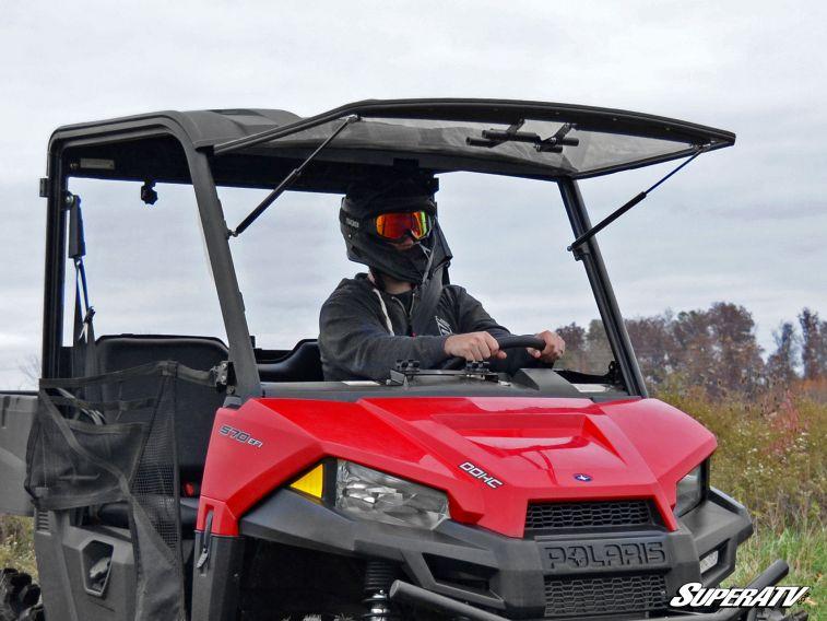 SUPER ATV FLIP WINDSHIELD SCRATCH RESISTANT POLARIS RANGER MIDSIZE -0