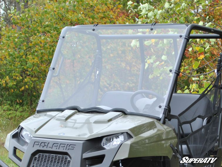 SUPER ATV FULL WINDSHIELD SCRATCH RESISTANT POLARIS RANGER MIDSIZE -0