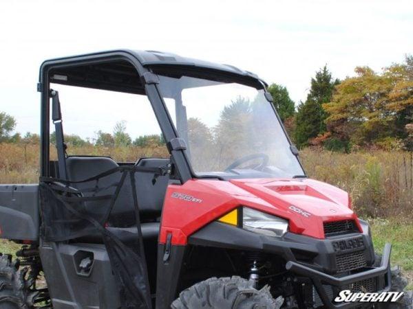 SUPER ATV FULL WINDSHIELD SCRATCH RESISTANT POLARIS RANGER MIDSIZE -17319