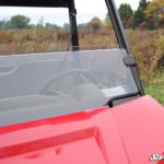 SUPER ATV HALF WINDSHIELD SCRATCH RESISTANT POLARIS RANGER MIDSIZE -0