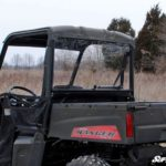 SUPER ATV REAR WINDSHIELD SCRATCH RESISTANT POLARIS RANGER MIDSIZE -0