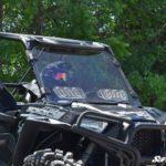 SUPER ATV VENTED WINDSHIELD SCRATCH RESISTANT POLARIS RZR 900/XP 1000 - CLEAR-17333