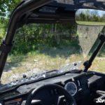 SUPER ATV VENTED WINDSHIELD SCRATCH RESISTANT POLARIS RZR 900/XP 1000 - CLEAR-17335