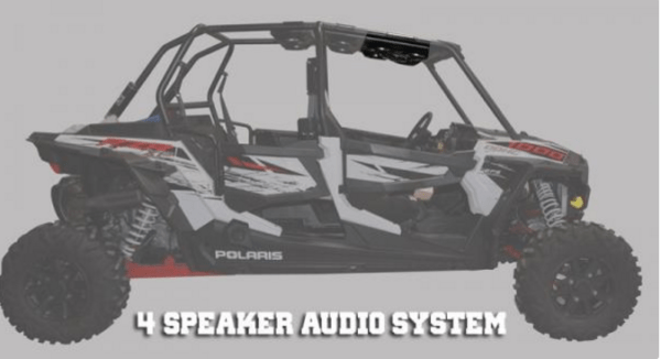 SSV WORKS BLUETOOTH STEREO SYSTEM 4 SPEAKER OVERHEAD POLARIS RZR XP 4 1000 -0