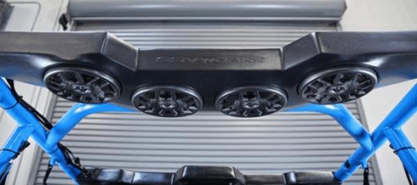 SSV WORKS REAR 4 SPEAKER OVERHEAD ADD ON CAN-AM COMMANDER/MAVERICK MAX-17239