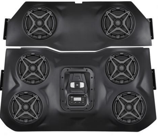 SSV WORKS BLUETOOTH STEREO SYSTEM 4 SPEAKER OVERHEAD POLARIS RZR XP 1000-17243