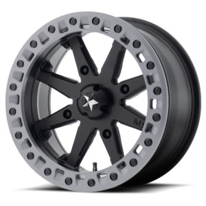 "MSA M31 LOK2 BEADLOCK WHEEL 14"""" 4/156 - SATIN BLACK WITH GRAY RING-0"