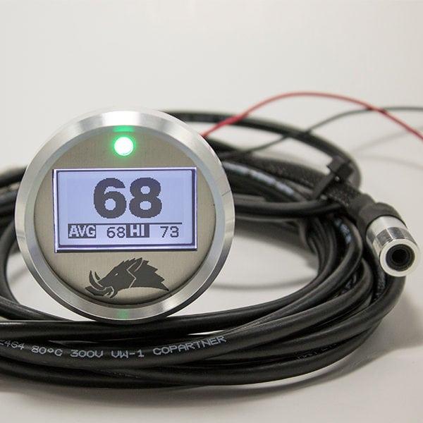 RAZORBACK TECHNOLOGY BELT TEMPERATURE 3.0 GUAGE WITH PRO SENSOR 5' CABLE-0