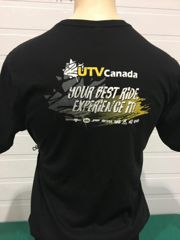 UTV CANADA MENS T-SHIRT - EXPERIENCE IT UTV-MT-EI
