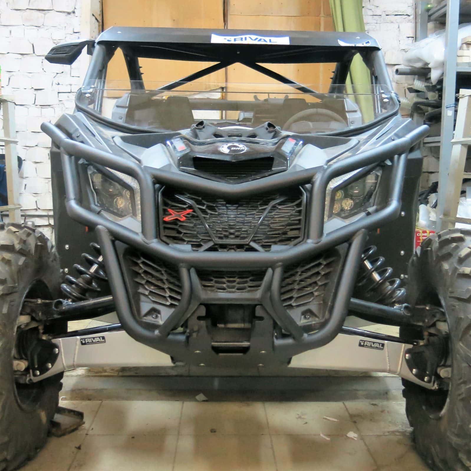 Rival Front Bumper With Winch Mount Can Am Maverick X3