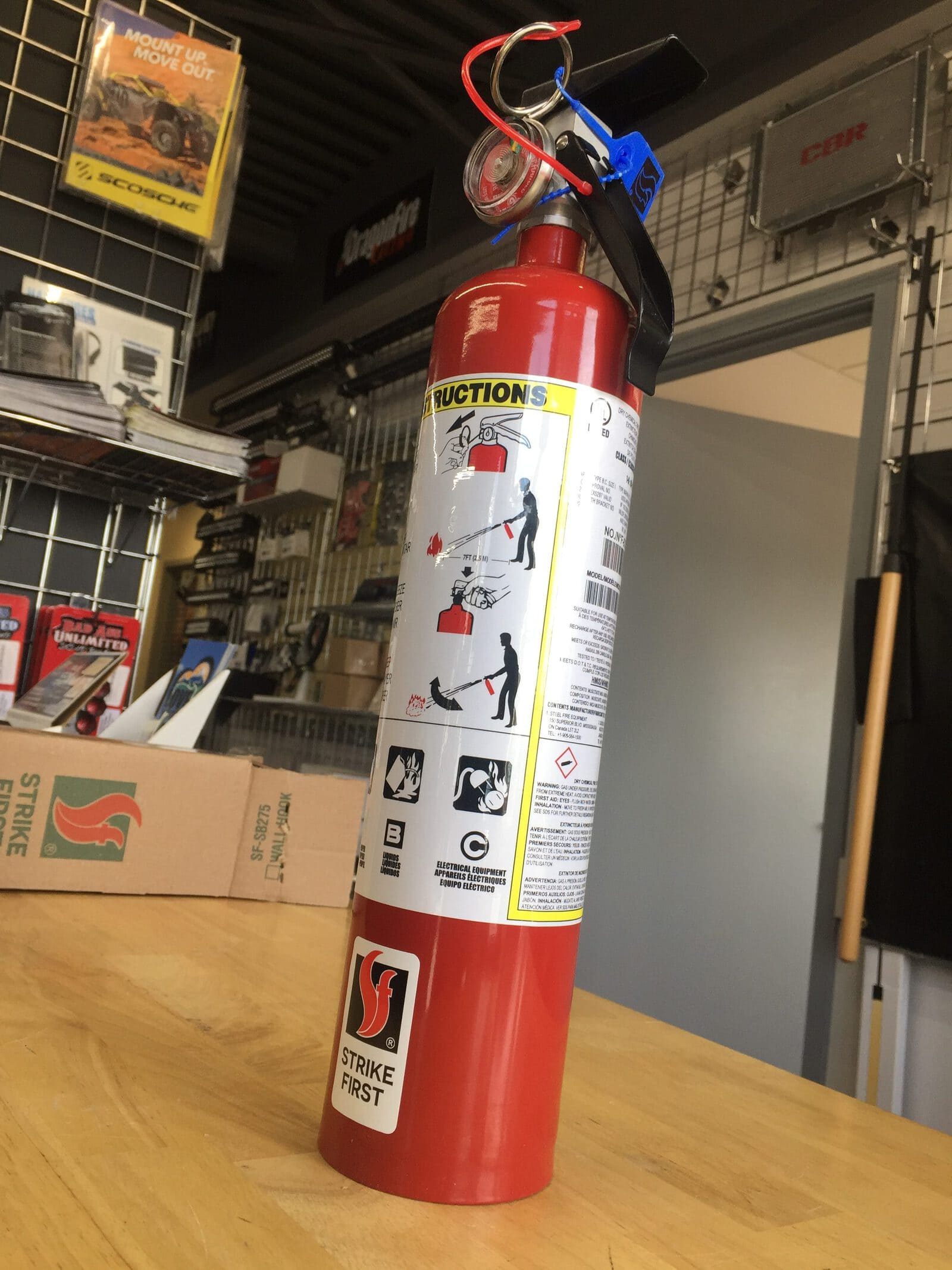 STRIKE FIRST 2 5LB ABC FIRE EXTINGUISHER