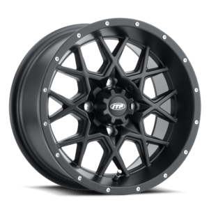 "ITP HURRICANE WHEEL 14""X7"" 4/137 4+3 - FLAT BLACK"