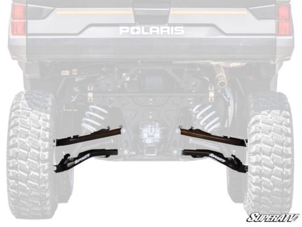 SUPER ATV A-ARMS HIGH CLEARNACE REAR OFFSET POLARIS RANGER XP 1000 - BLACK