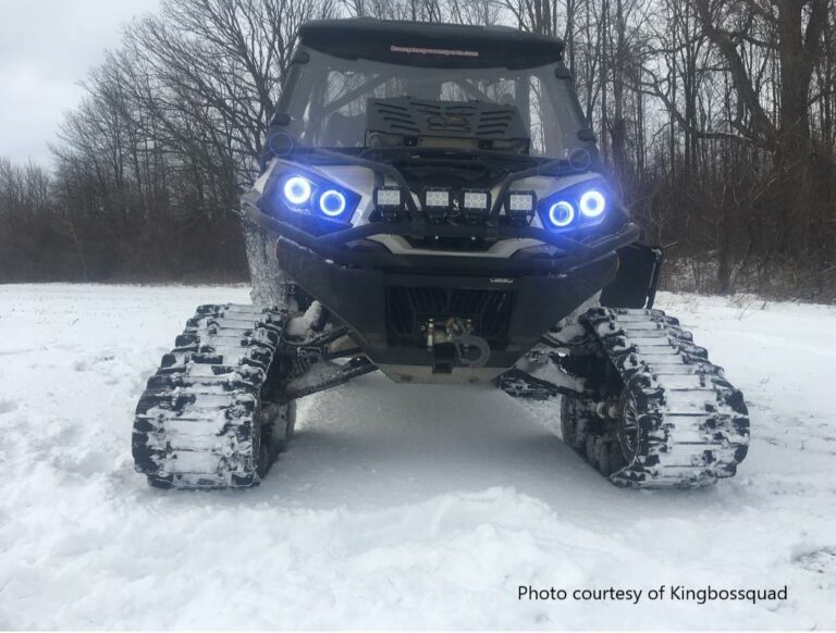 KingBossQuad Running With A Set Of Tracks